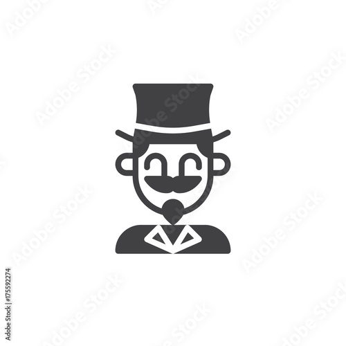 Terrific Magician Circus Actor Icon Vector Filled Flat Sign Solid Download Free Architecture Designs Licukmadebymaigaardcom