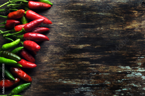Staande foto Hot chili peppers Capsicum Chilis Pimientos Paprika Peperoncino Pebrot