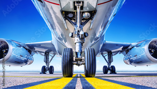 Türaufkleber Flugzeug landing gear