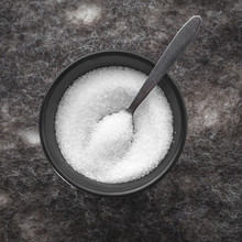 Black  Round Bowl With Sugar