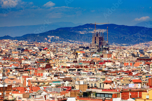 Photo Panoramic view of the city of Barcelona, Spain