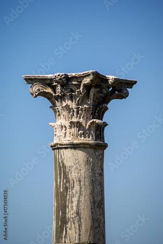 Obraz na plátně Korinthische Ordnung Säule im Forum Romanum, Rom, Italien