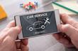 Concept of car service