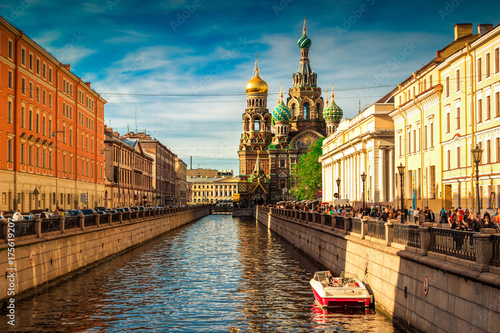 Fototapety, obrazy: Church of the Savior on Spilled Blood in Saint Petersburg, Russia