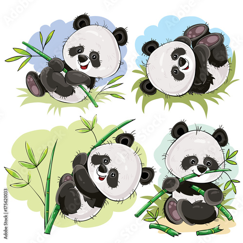 smieszne-panda-bear-baby-gry-na-trawie-wspinaczka-na-lodydze-bambusa-jedzenie-bambusa-oddzialow-wektorow-cartoon-zestaw-na-bialym