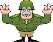 Cartoon Military General Surrender