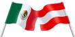Flags. Mexico and Austria