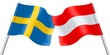 Flags. Sweden and Austria