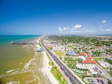 Aerial Photo Of Galveston Texas