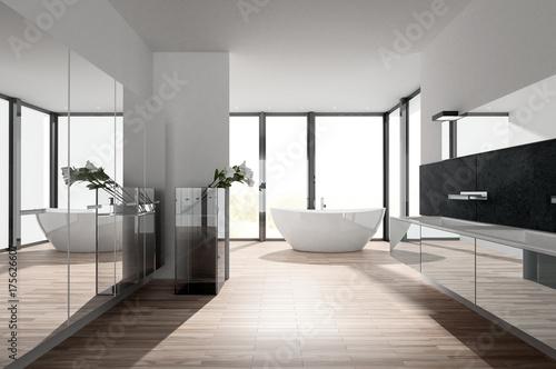 Sonniges Modernes Luxus Bad Mit Badewanne