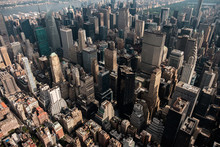 A View Of Midtown Manhattan From A Helicopter