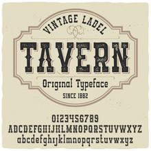 """Vintage Label Typeface Named """"..."""
