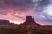 Colorful Desert Sunrise Landsc...