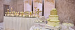 canvas print picture table of a wedding and groom , beautifull cake