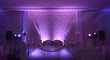 canvas print picture purple light show on a wedding
