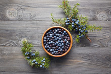 Juniper Berries In A Bowl With...