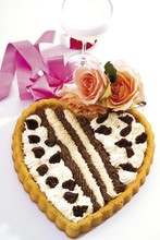 Cream Tart In The Shape Of A H...