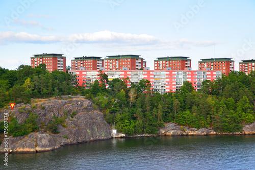 Staande foto Stockholm Residental district in Stockholm