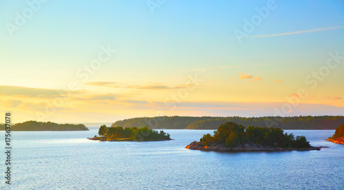 Foto auf Acrylglas Stockholm Small islands in the archipelago of Stockholm