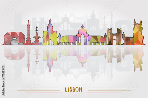 Vector Lisbon City background