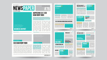Newspaper Template Vector. Fin...