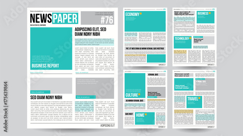 Fotografie, Obraz  Newspaper Template Vector