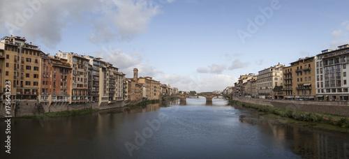 Obraz na dibondzie (fotoboard) Rzeka Arno. Florencja