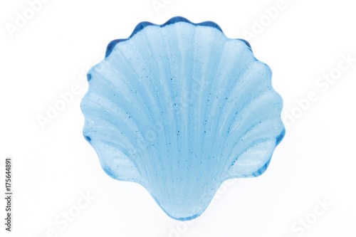 Fotografia, Obraz  Blue glass seashell