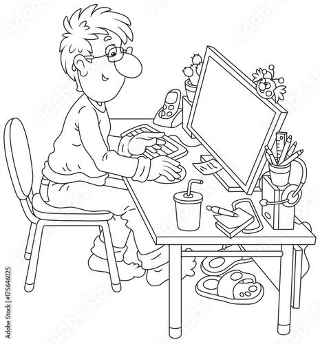 Fotografía Computer user at work
