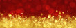 canvas print picture - Red and gold abstract Christmas background