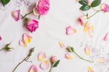 Background Roses Scattered On ...