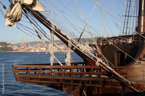 Photo galeón de la armada española del siglo XVII en Vigo, Spain similar a los que par