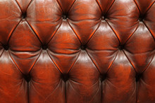 Red Leather Couch Detail