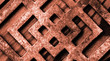 Metal steampunk background texture - steel and iron abstract grid pattern.
