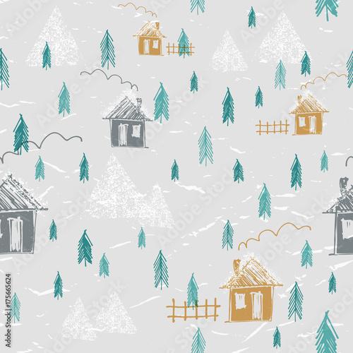 prosta-reka-rysujacy-las-w-zima-bezszwowym-wzorze-domy-gory-sosny-i-snieg-wzor-sylwetki-sliczny-dziecinny-styl