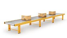 Delivery Concept. Cardboard Bo...