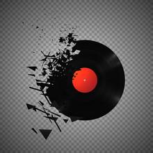 Vintage Vinyl Records Broken A...