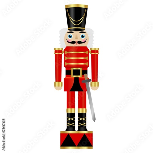 Cuadros en Lienzo Vector illustration of a nutcracker with sword