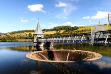 Pontsticill Reservoir And Drain In The Brecon Beacons