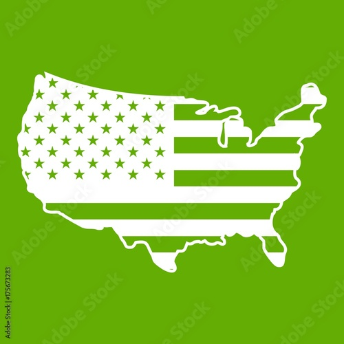 Usa Map Icon Green Buy This Stock Vector And Explore Similar
