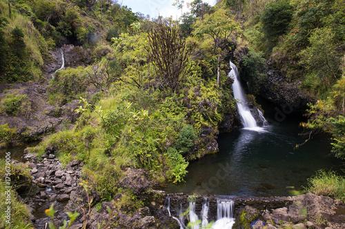 Zdjęcie XXL Siklawa na drodze Hana w Maui, Hawaje
