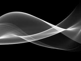 Panel Szklany Podświetlane Abstract wave white and black background
