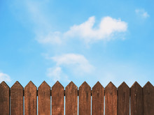 Wooden Fence Against Blue Sky