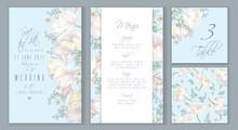 Tulip Blue Invitation Set