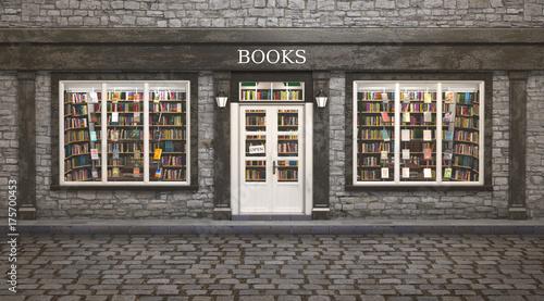 Photographie  Book store exterior, 3d illustration