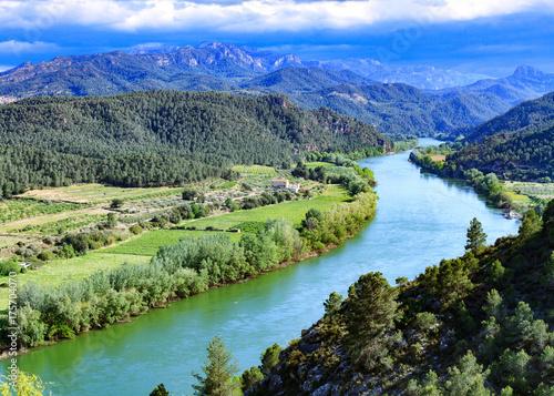 Printed kitchen splashbacks River The Ebro river. Most important river on the Iberian Peninsula. Miravet, Spain