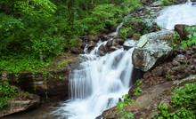 Amicalola Falls Slowmotion Detail, Georgia State Park, USA