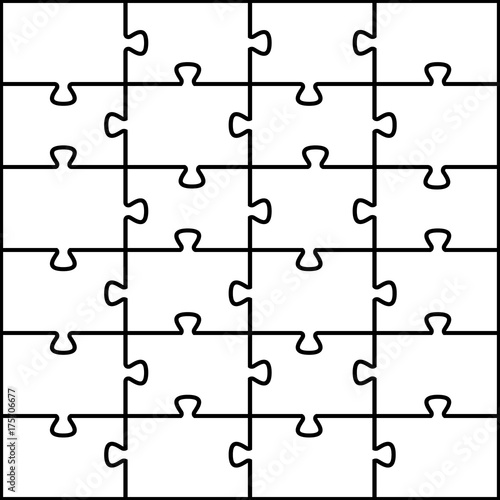 Photo Jigsaw puzzle vector background