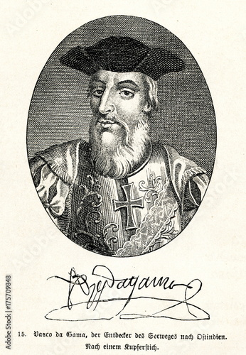 Cuadros en Lienzo Vasco da Gama, Portuguese explorer and the first European to reach India by sea