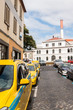 Yellow taxis in Madeira island